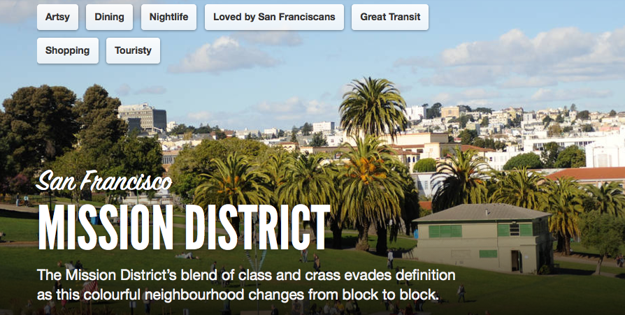 screenshot of Airbnb Neighbourhood feature