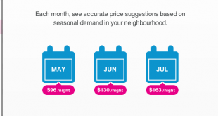 Screenshot of Airbnb Price Suggestions feature