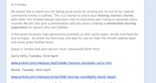 Image of Airbnb host meetup invitation