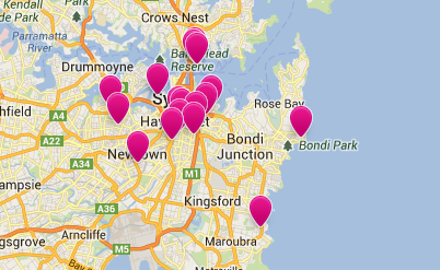 Screenshot of Airbnb Sydney hosts