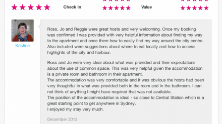 100 reviews on airbnb